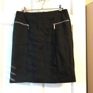 Michael Kors Pencil Skirt Charcoal Grey